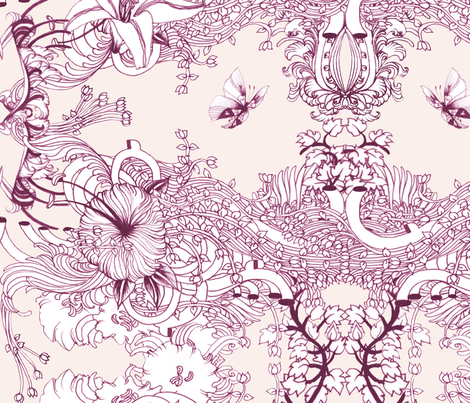 #EROS Pattern - 2.  fabric by noumeda_carbone on Spoonflower - custom fabric