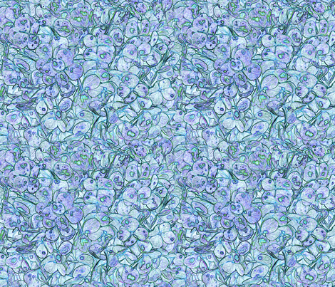 """Hydrangea Lavender Aqua"" fabric by jeanfogelberg on Spoonflower - custom fabric"