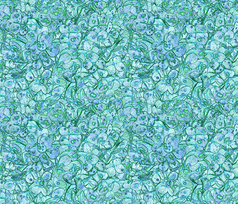 """Hydrangea Aqua Lavender"" fabric by jeanfogelberg on Spoonflower - custom fabric"