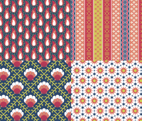 matisse palette coordinates fabric by sef on Spoonflower - custom fabric