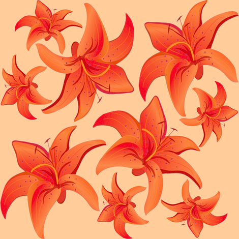 tiger lily 1 fabric by krs_expressions on Spoonflower - custom fabric