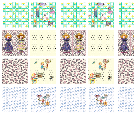 country quilt swatches - 8 designs fabric by krs_expressions on Spoonflower - custom fabric