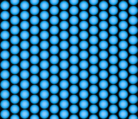 Light blue orbs fabric by whimzwhirled on Spoonflower - custom fabric