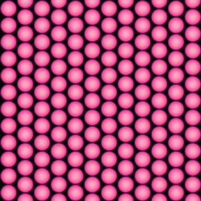 Pink Orbs on Black