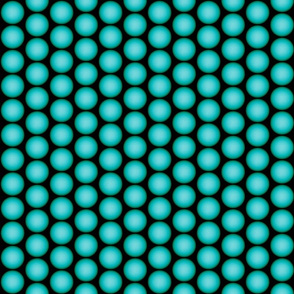 Teal Orbs On Black