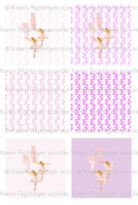 fairy ballerina quilt swatches - 6 designs