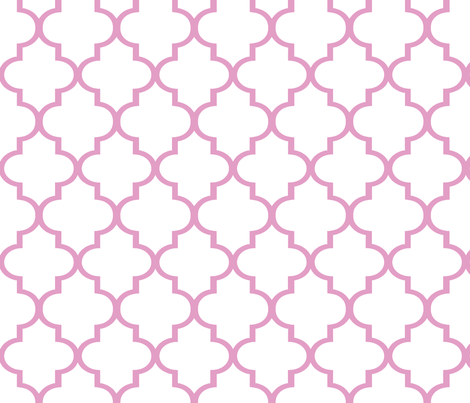 Pink Quatrefoil fabric by willowlanetextiles on Spoonflower - custom fabric