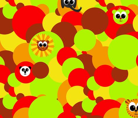 kleurige_cirkels_met_babydieren fabric by saskia_d on Spoonflower - custom fabric