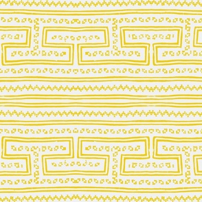 Hmong pattern yellow