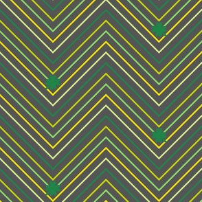 Chevron Mini Striped Shamrocks! - Charcoal - Luck Be With You - © PinkSodaPop 4ComputerHeaven.com