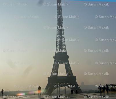 Eiffel Tower in a Morning Haze