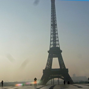 Eiffel Tower in a Morning Haze