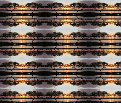 Lone tree in Hawaii pattern fabric by karenjury on Spoonflower - custom fabric