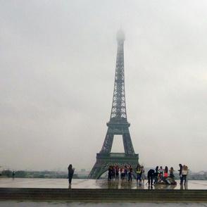 Eiffel Tower in Morning Fog