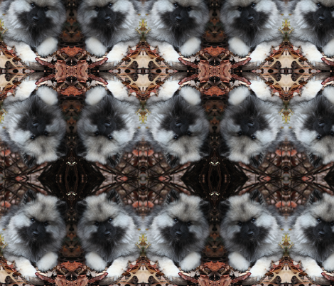 keeshond puppy pattern fabric by karenjury on Spoonflower - custom fabric
