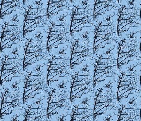 Tree Buds Against Blue Sky-2 fabric by susaninparis on Spoonflower - custom fabric