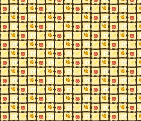 Morning Toast fabric by lkglioness on Spoonflower - custom fabric