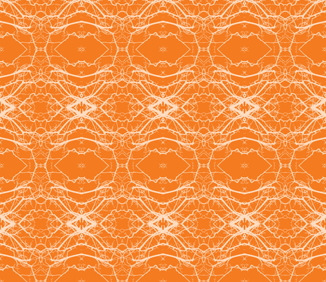 Laced Clementine fabric by susaninparis on Spoonflower - custom fabric