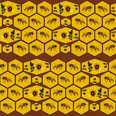 Honeycomb fabric by ravynscache on Spoonflower - custom fabric