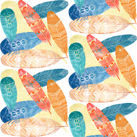 feathers fabric by krs_expressions on Spoonflower - custom fabric