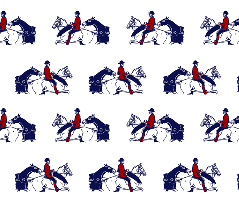 The Pony Horse fabric by ragan on Spoonflower - custom fabric