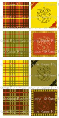 celtic quilt swatches - 8 designs