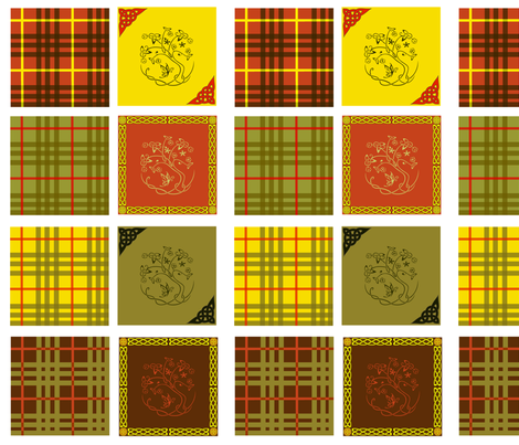 celtic quilt swatches - 8 designs fabric by krs_expressions on Spoonflower - custom fabric