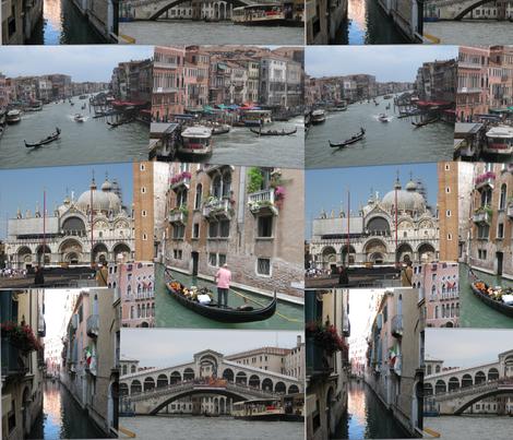Venice, Italy fabric by joanmartinfee on Spoonflower - custom fabric