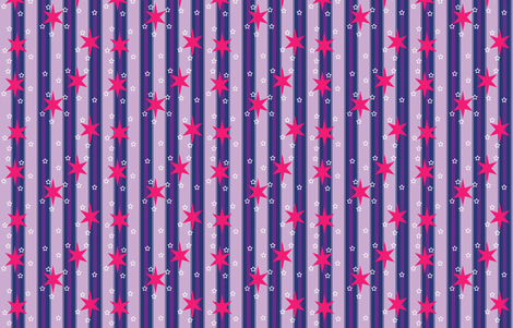 Starry Stripe fabric by undercovernerd on Spoonflower - custom fabric