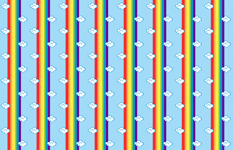 Rainbow Stripe fabric by undercovernerd on Spoonflower - custom fabric