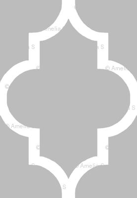 Large Scale Cashmere Quatrefoil