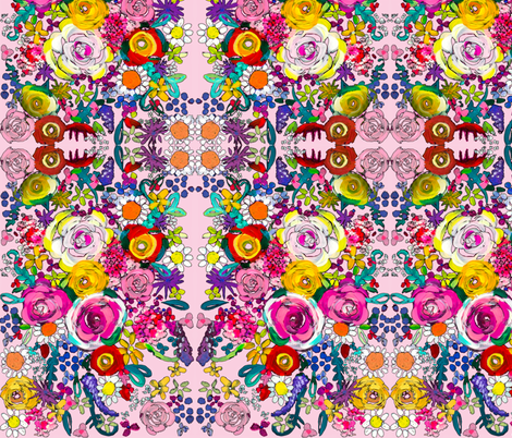 Les Fleurs // Baby Pink fabric by theartwerks on Spoonflower - custom fabric