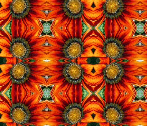 Red flower ornament fabric by studiogala on Spoonflower - custom fabric
