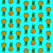 Pineapples on Turquoise