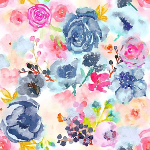 Spring Splendor Watercolor Floral