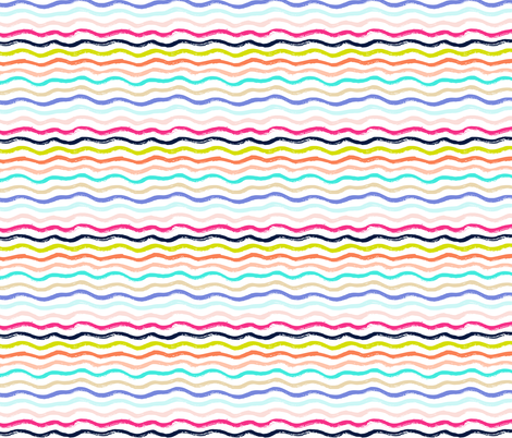 Summer Waves fabric by theartwerks on Spoonflower - custom fabric