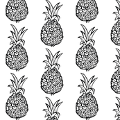 Pineapple Print in Black and White