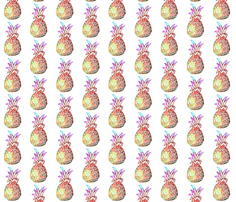 Pineapple Party in Funky Tie Dye fabric by theartwerks on Spoonflower - custom fabric