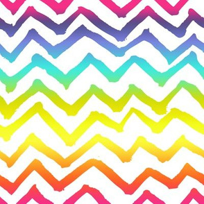 Painted Chevron // Rainbow