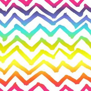 Painted Chevron // Rainbow