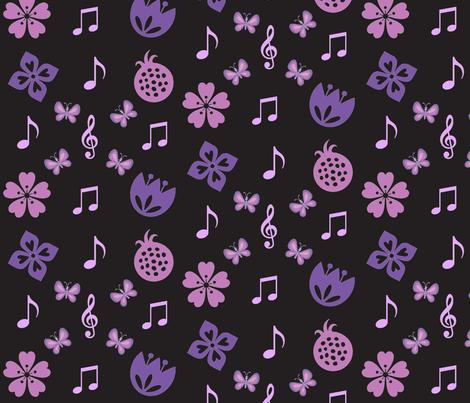 springtime music fabric by ronnyjohnson on Spoonflower - custom fabric
