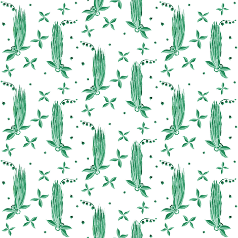 Just Greens fabric by spontaneouscombustion on Spoonflower - custom fabric
