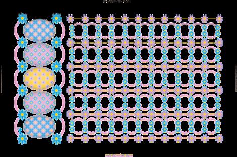 Flowery Eggs Tea Towel fabric by jjtrends on Spoonflower - custom fabric