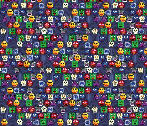 Blue Snood fabric by pixeldust on Spoonflower - custom fabric