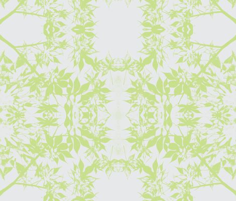 Japanese Maple Leaves in Green fabric by 3sister'stextiles on Spoonflower - custom fabric