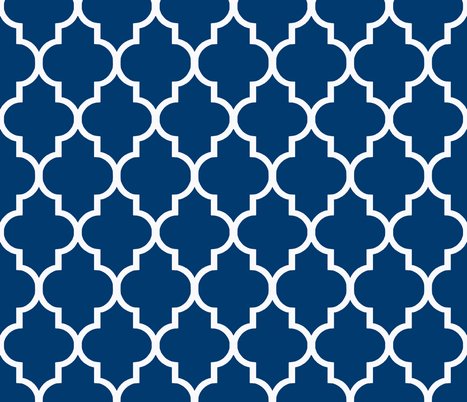 White on Navy Blue fabric by willowlanetextiles on Spoonflower - custom fabric