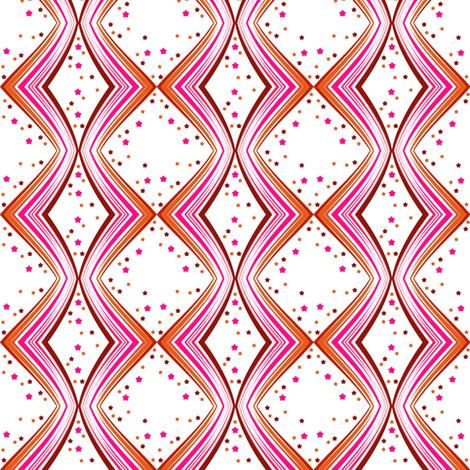 Ribbon Lattice - Paprika Star - © PinkSodaPop 4ComputerHeaven.com fabric by pinksodapop on Spoonflower - custom fabric