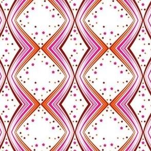 Ribbon Lattice - Paprika Star - © PinkSodaPop 4ComputerHeaven.com
