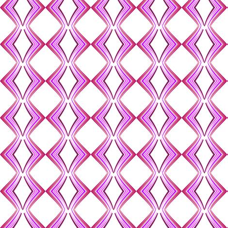 Ribbon Lattice - Raspberry Heart - © PinkSodaPop 4ComputerHeaven.com fabric by pinksodapop on Spoonflower - custom fabric