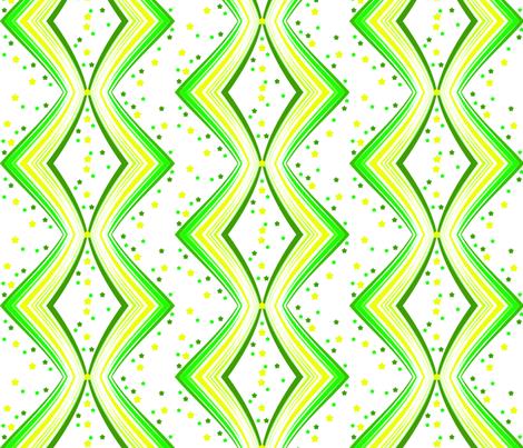 Ribbon Lattice - Limon Stars - © PinkSodaPop 4ComputerHeaven.com fabric by pinksodapop on Spoonflower - custom fabric